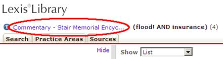 "Use the link for ""Commentary - Stair Memorial Encyclopaedia""."